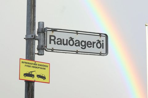 The crime was committed on the street Rauðagerði.