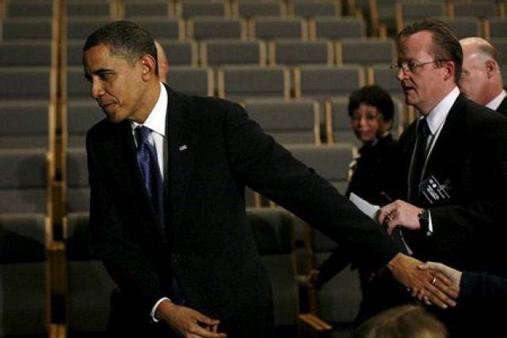 Barack Obama í Kaupmannahöfn í kvöld.