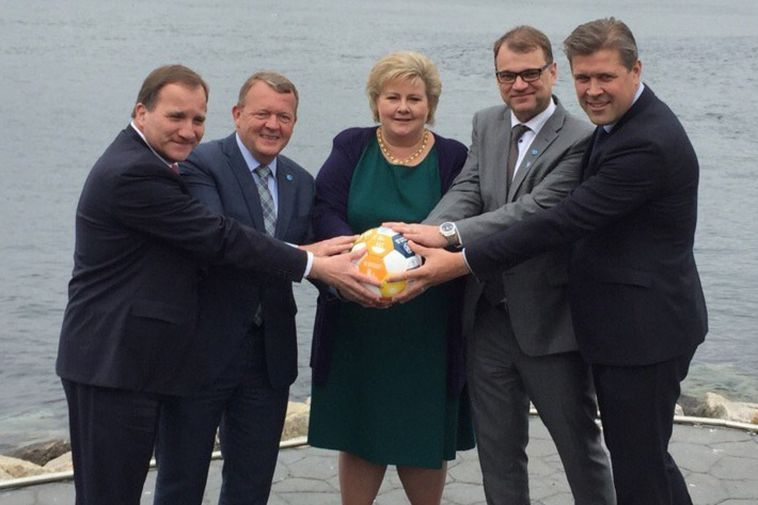 Nordic PMs poke fun at Trump's Saudi photo op