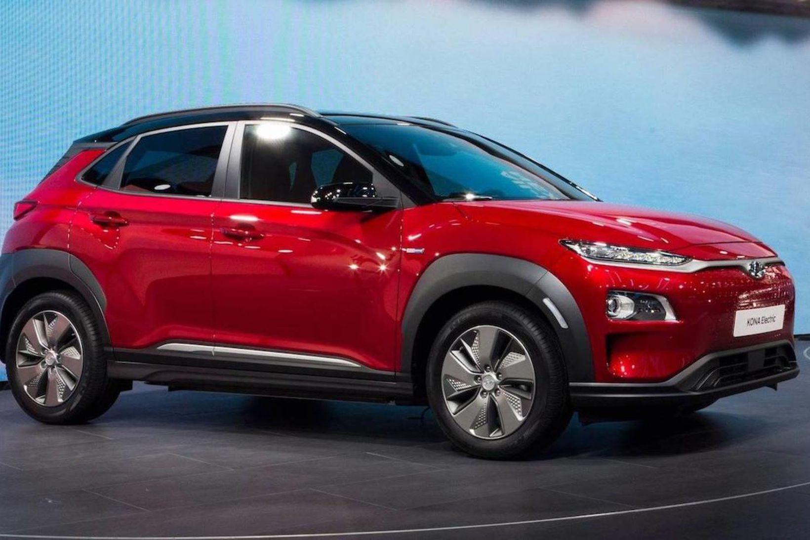 Rafbíllinn Hyundai Kona.