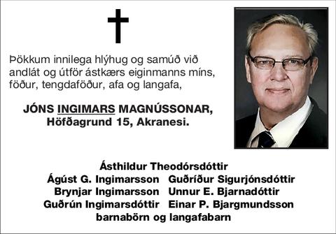 Jóns <U>Ingimars</U> Magnússonar,