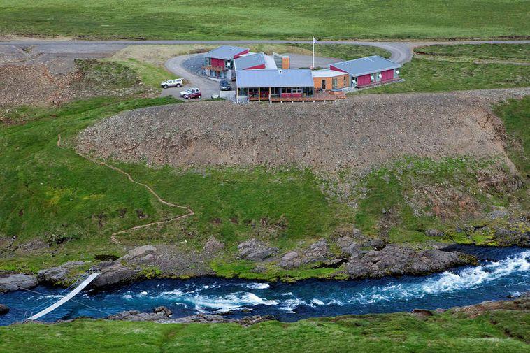 Fossgerði fishing hut by Selá in Vopnafjörður fjord, Northeast Iceland.