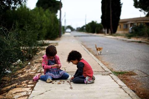 Refugee children from Syria.