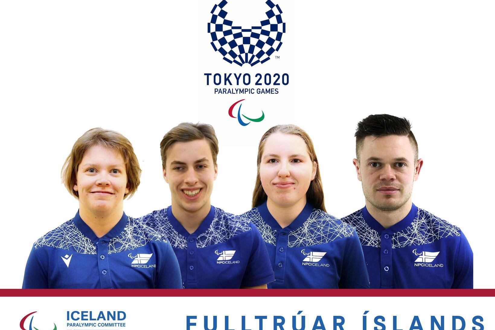 Fulltrúar Íslands í Tókýó.