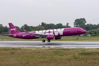 Ein af Airbus A321 vélum WOW air.