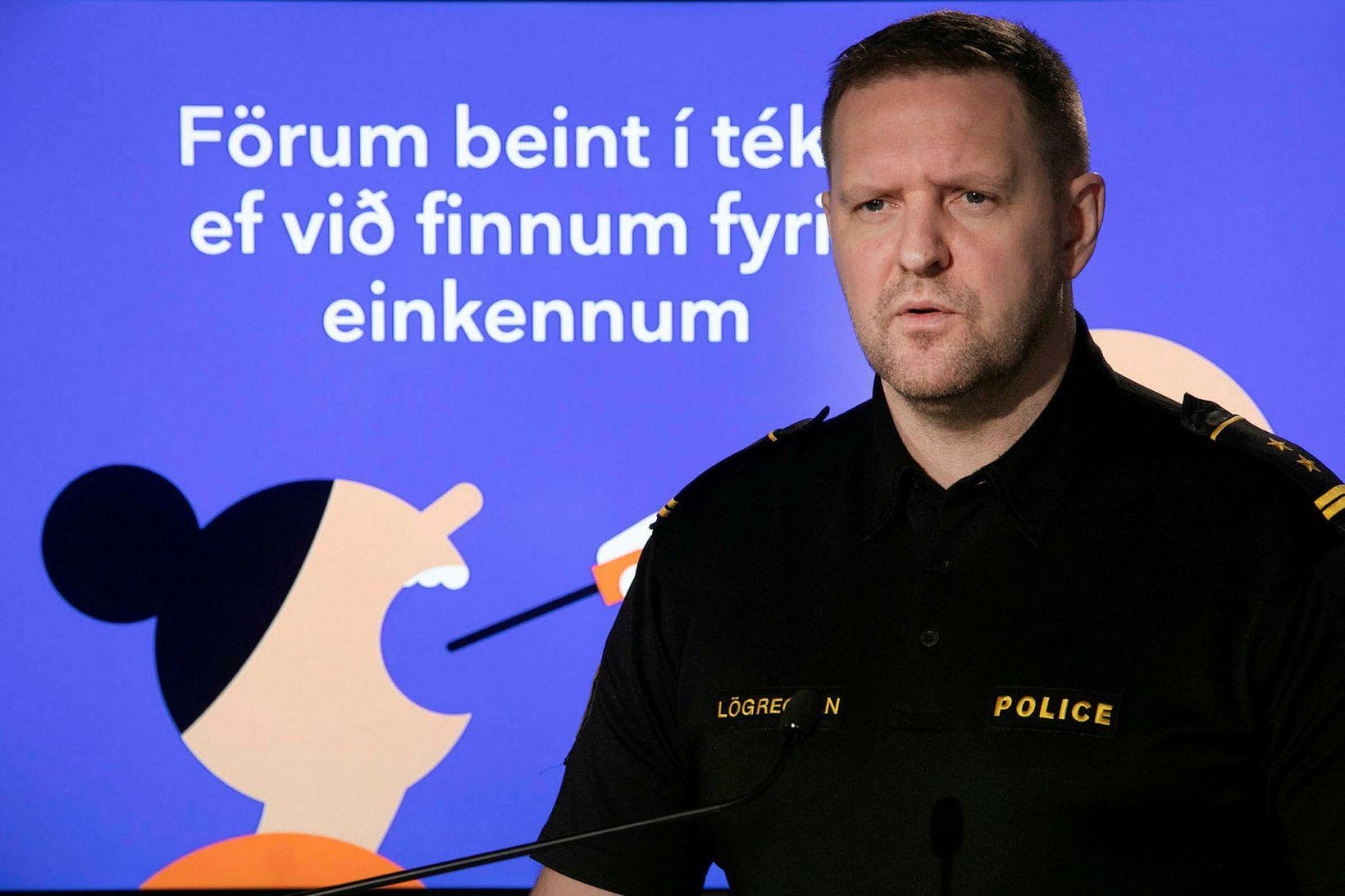 Rögnvaldur Ólafsson aðalvarðstjóri almannavarnadeildar ríkislögreglustjóra.