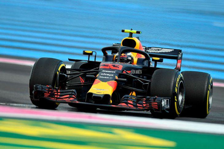 Max Verstappen á ferð í Le Castellet í dag.