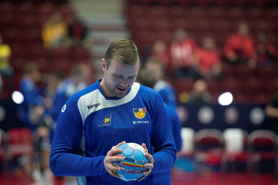 Aron Pálmarsson klár í slaginn fyrir leik.