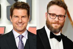 Tom Cruise (t.v.) og Seth Rogen (t.h.).