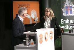 Þórólfur Guðnason og Alma Möller.