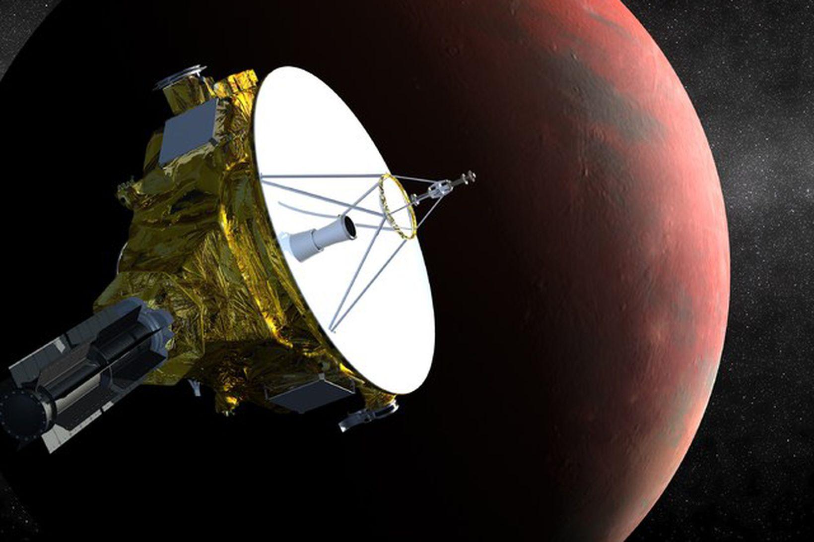 New Horizons er nú í tæplega fimm milljarða kílómetra fjarlægð …