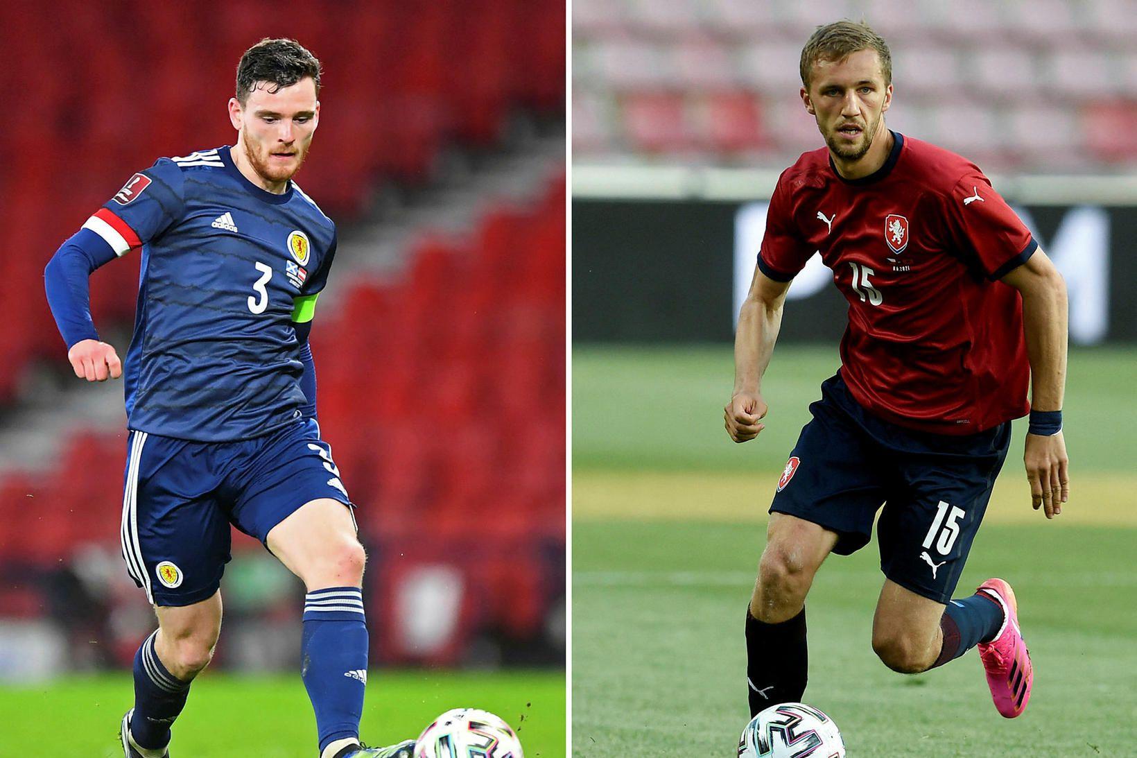 Andrew Robertson og Tomás Soucek eru lykilmenn sinna liða.