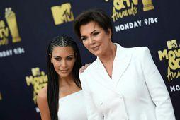 Kim Kardashian ásamt móður sinni Kris Jenner.