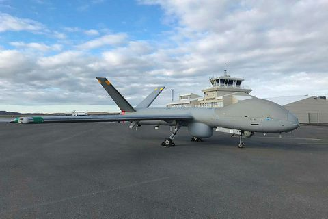 The drone at Egilsstaðir Airport.