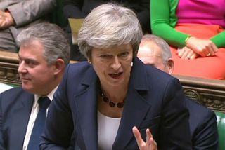 Theresa May, forsætisráðherra Bretlands, vill meina að útganga Breta sé í augsýn eftir að hún ...