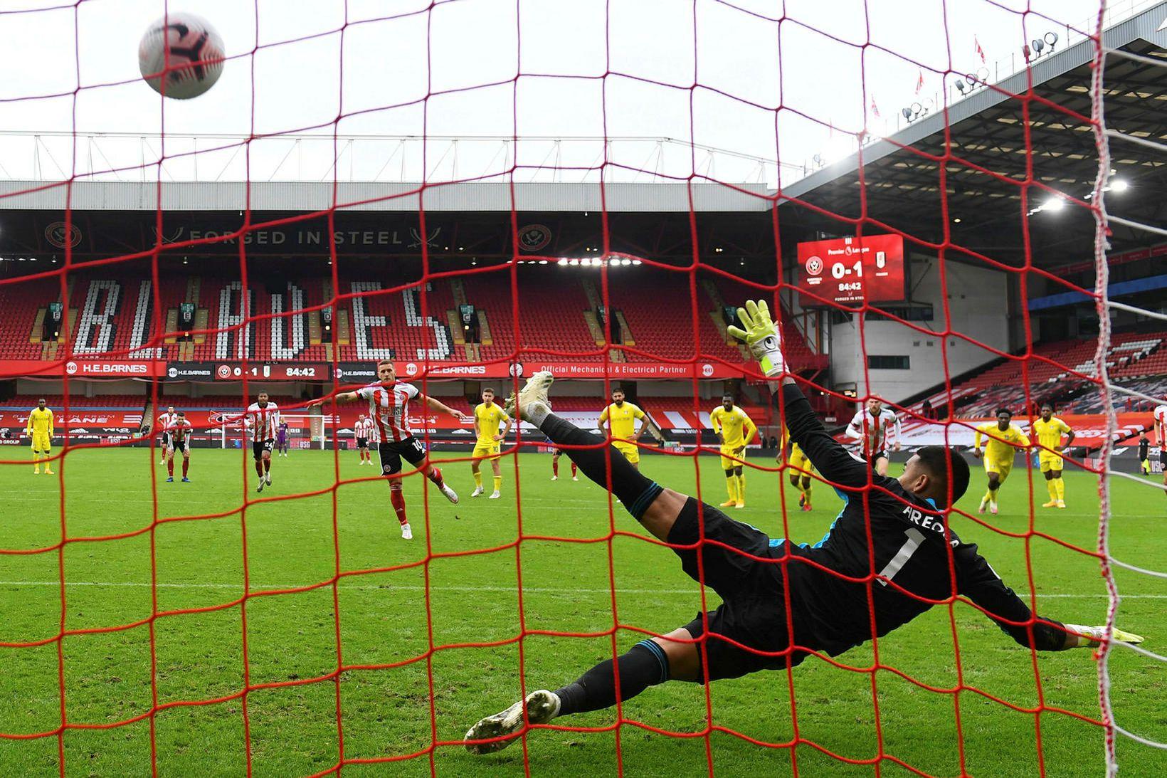Billy Sharp tryggði Sheffield United jafntefli gegn Fulham í dag.