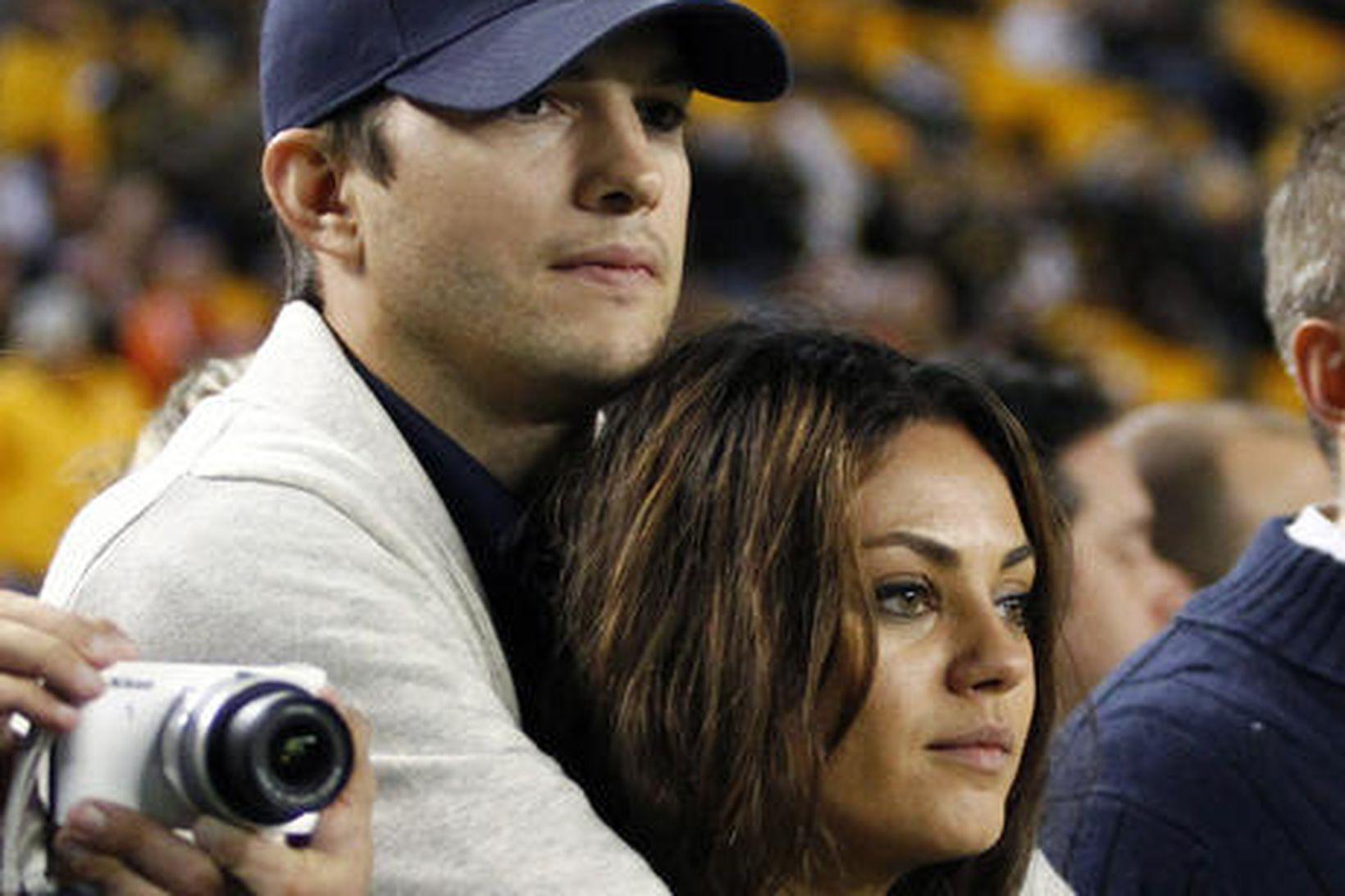 Ashton Kutcher og Mila Kunis eiga tvö börn.
