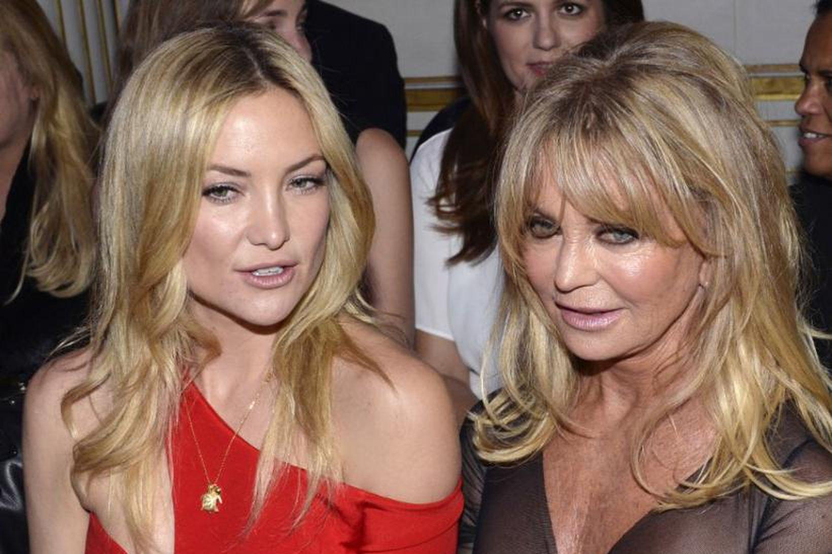 Mæðgurnar Kate Hudson og Goldie Hawn eru mjög nánar ef …