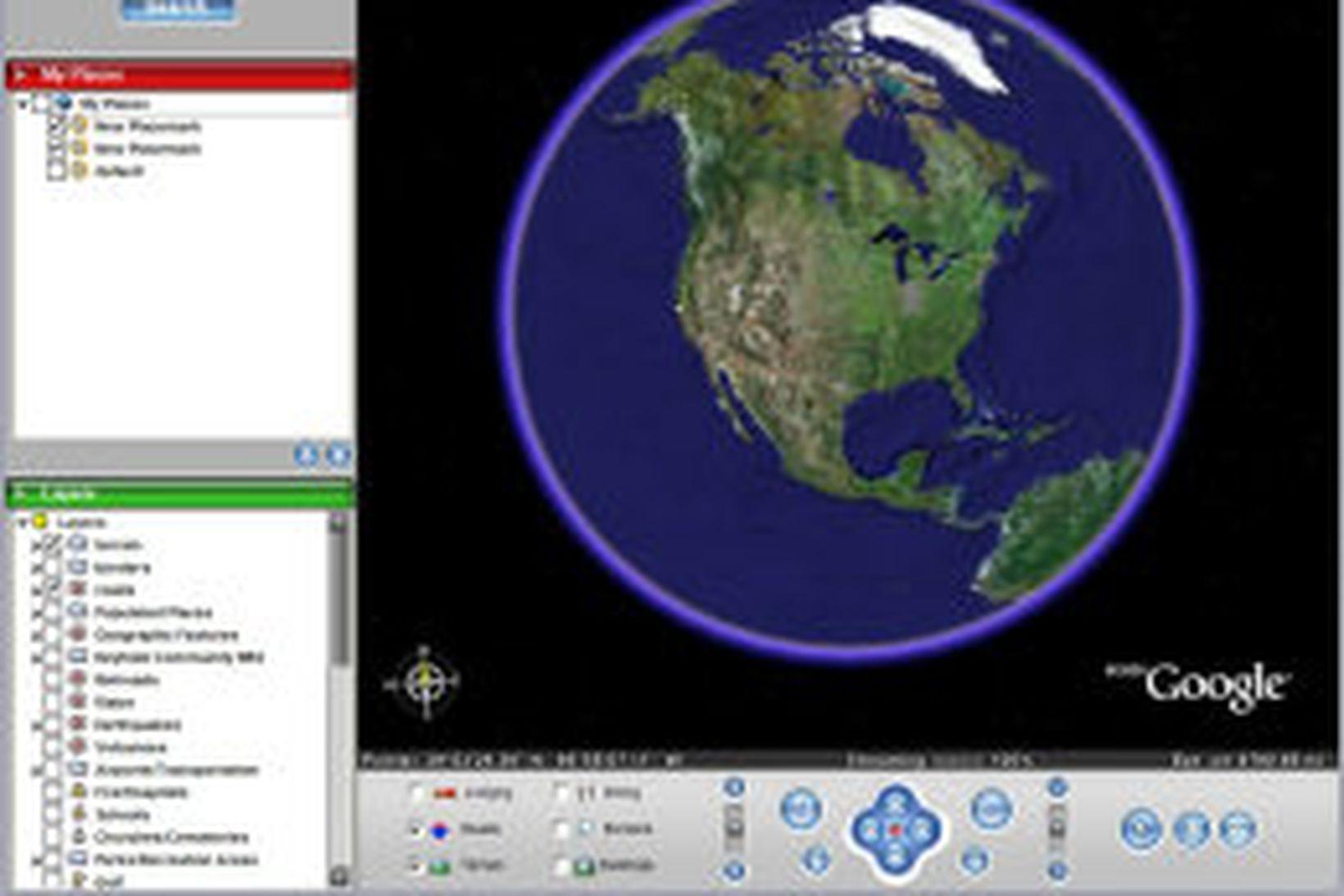 Skjámynd Google Earth.