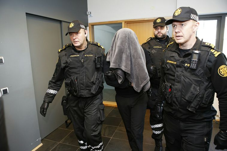 The suspect was led before a judge at the Reykjanes district court today and his ...