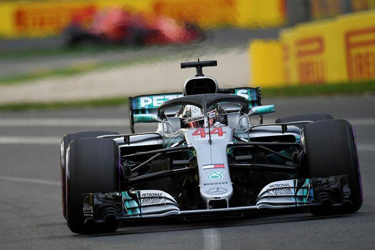Lewis Hamilton á undraverða hringnum sem færði honum ráspólinn í Albertsgarði í morgun.