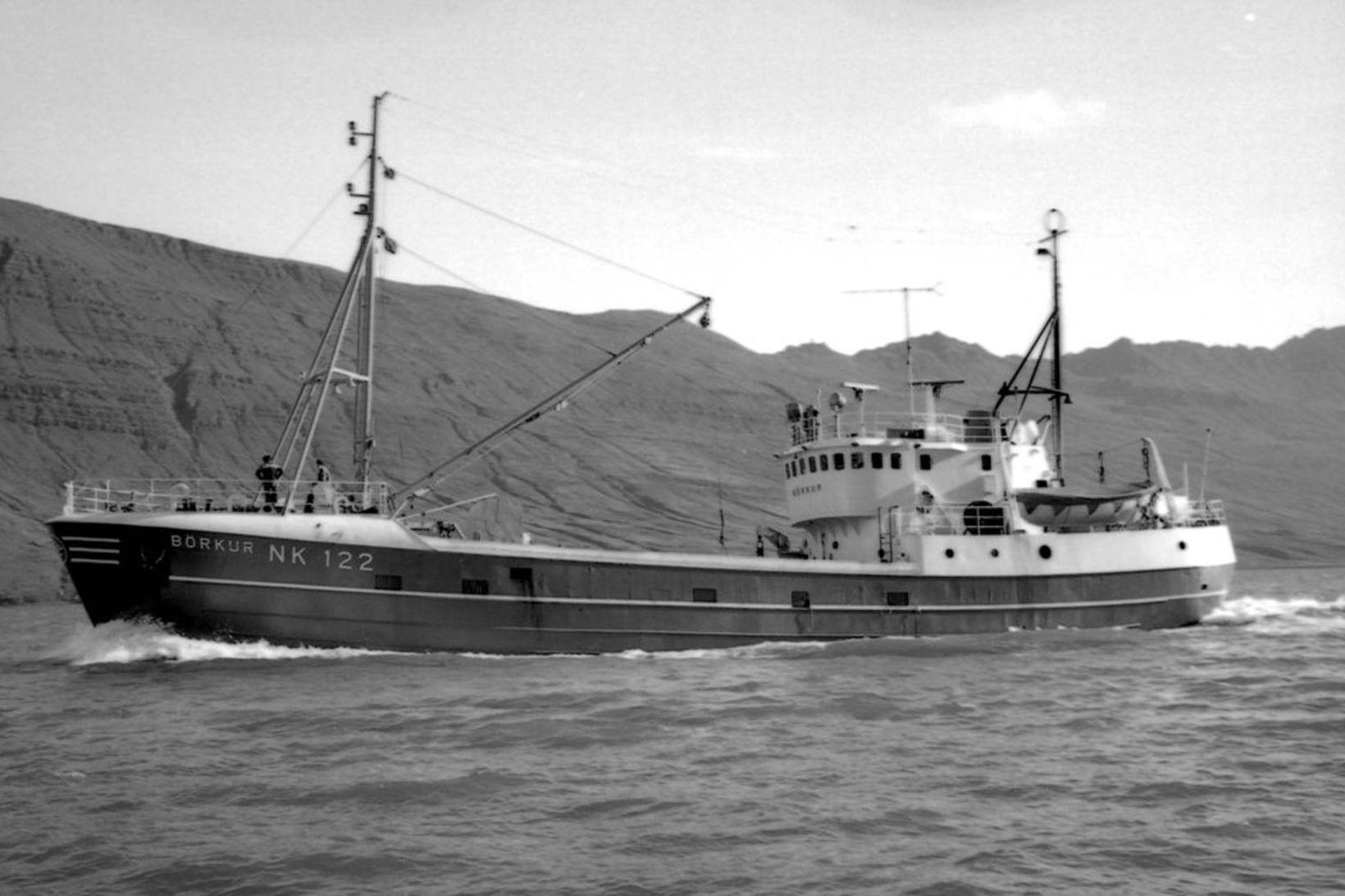 Börkur NK kom nýr til Neskaupstaðar 7. nóvember 1966.
