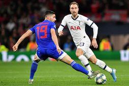 Christian Eriksen í leik með Tottenham gegn Olympiacos í Meistaradeildinni á dögunum.