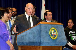Jerry Brown, ríkisstjóri Kaliforníu.