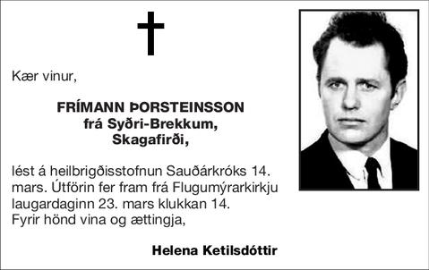 Frímann Þorsteinsson