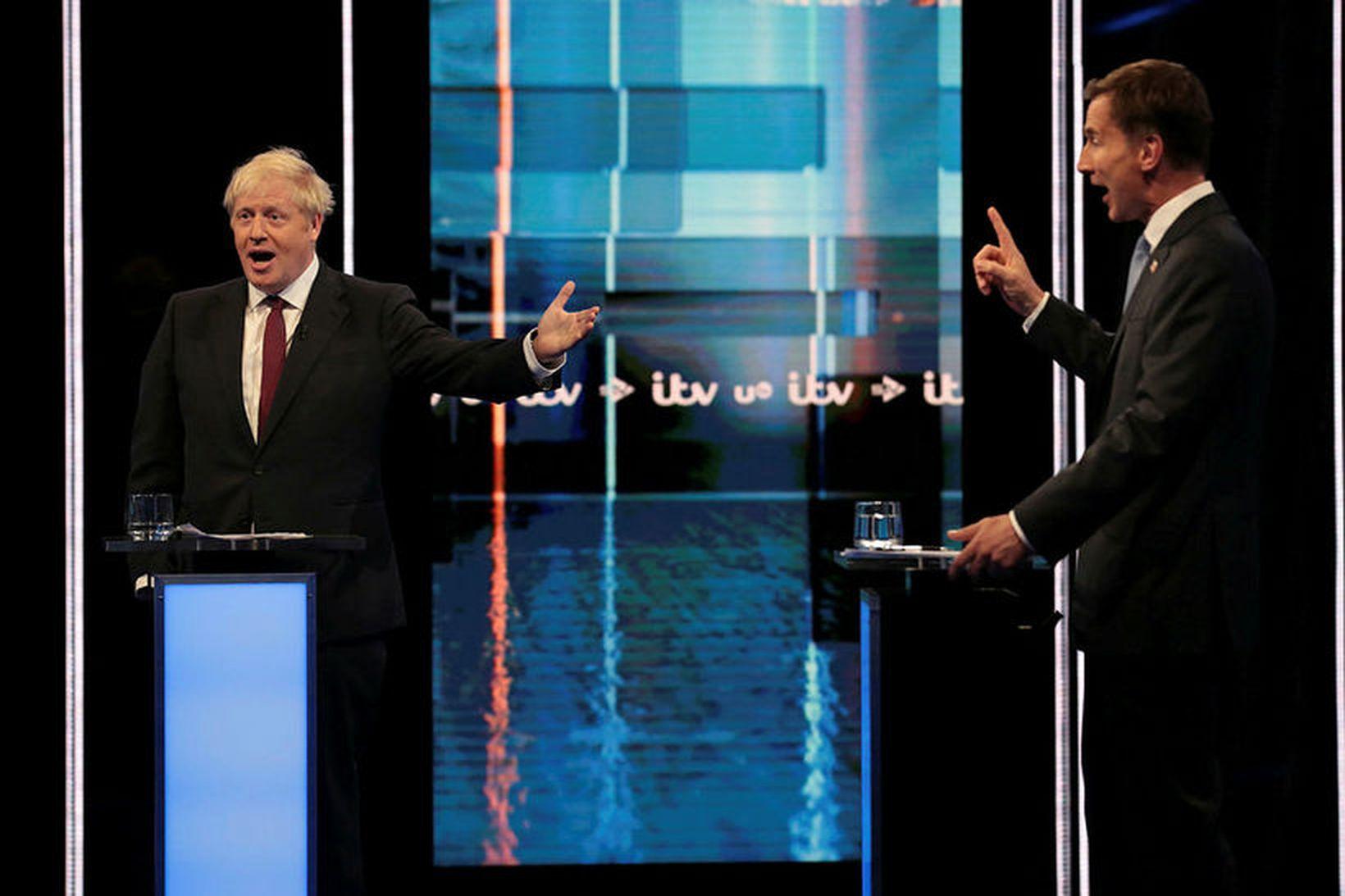 Boris Johnson og Jeremy Hunt takast á í kappræðum á …