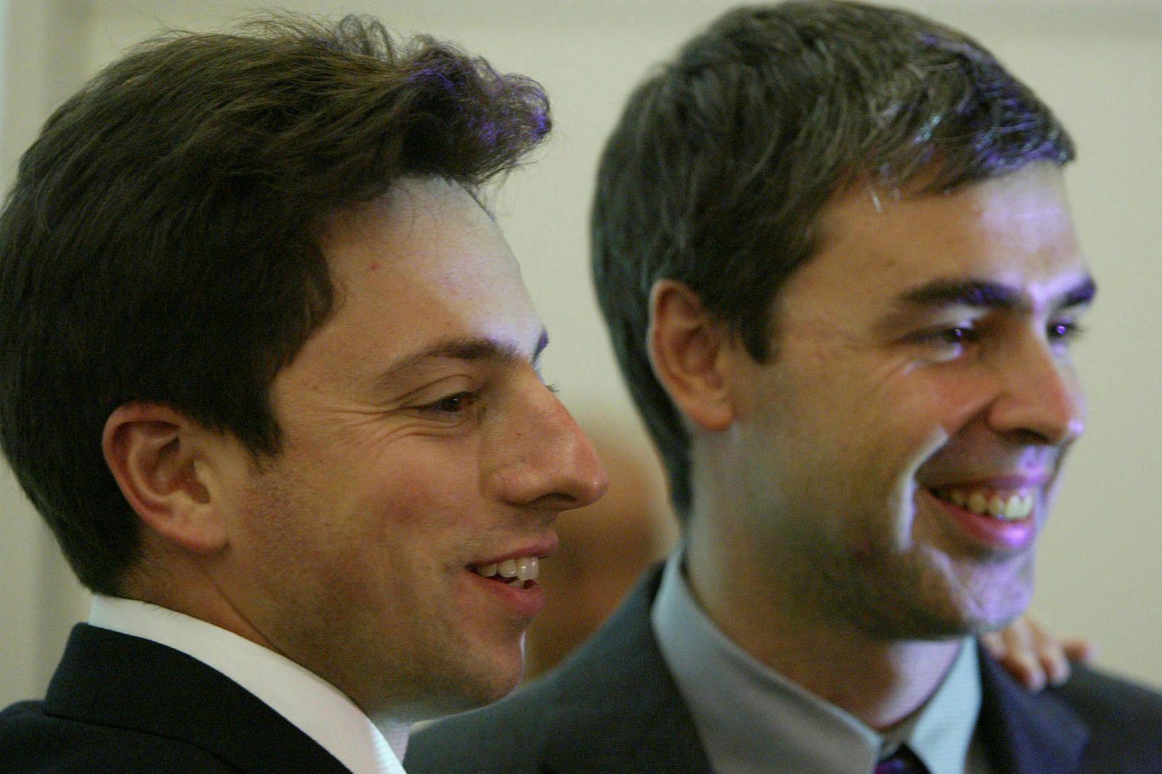 Sergey Brin og Larry Page.