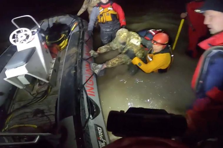 Rescue workers faced difficult conditions.