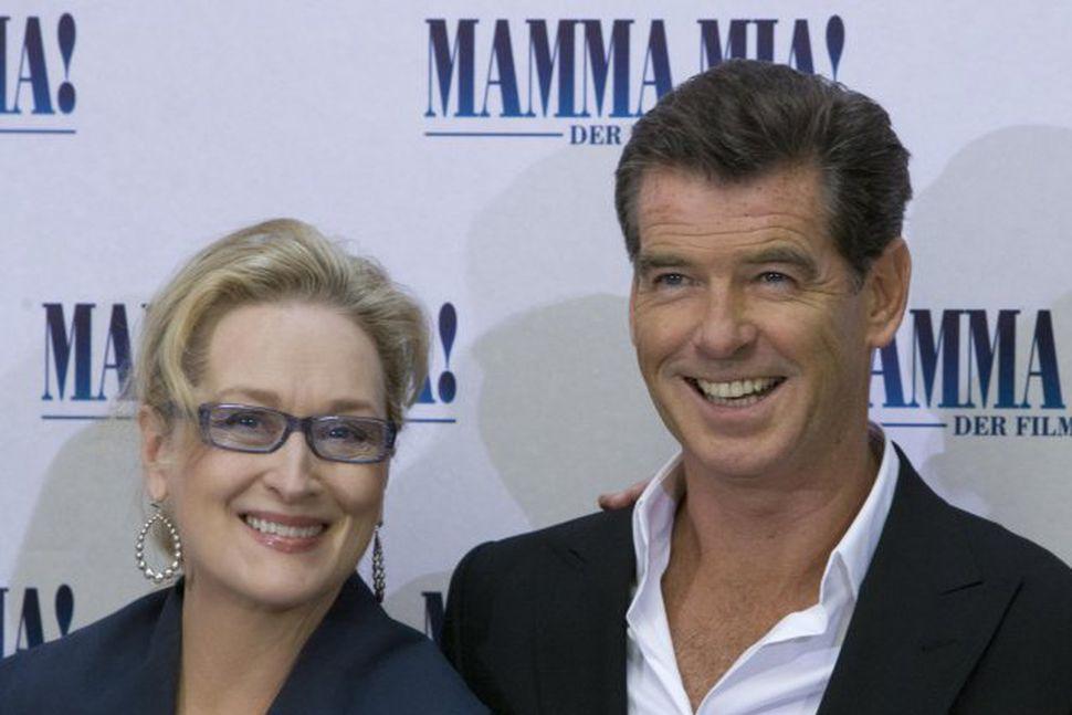 Meryl Streep og Pierce Brosnan leika bæði í kvikmyndinni Mamma ...