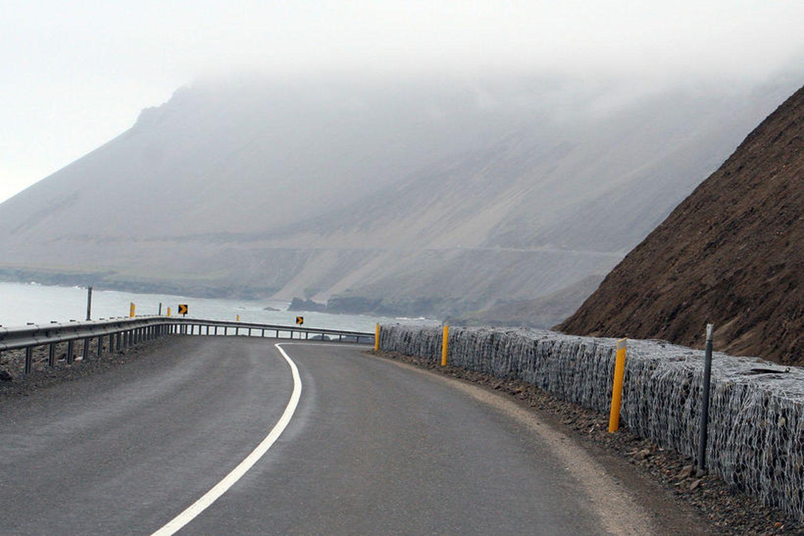 Hvalnes- og Þvottárskriðum hefur verið lokað vegna umferðarslyss.
