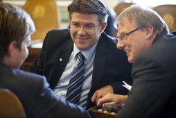 Gunnar Bragi Sveinsson, þingflokksformaður Framsóknar og Árni Þór Sigurðsson, þingmaður VG.