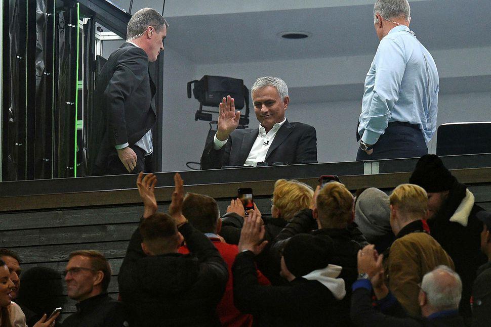 Jose Mourinho á Old Trafford 20. október.
