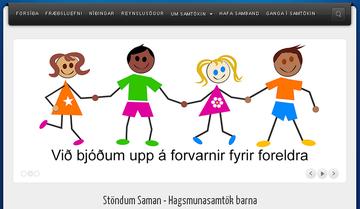 Skjáskot af vefsvæðinu stondumsaman.is.