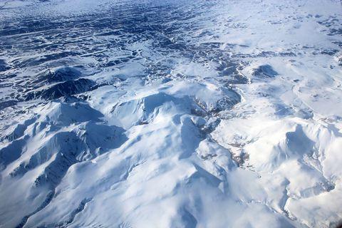 Kerlingafjöll mountains, an aerial view.