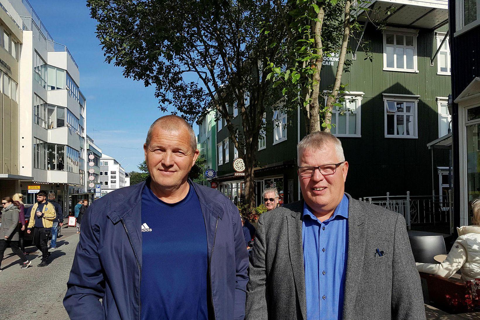 Tryggvi Gunnarsson og Friðrik Sigþórsson.