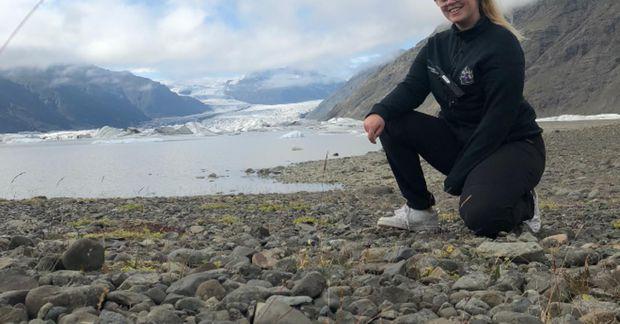 Sigrún Birta hefur verið landvörður í Vatnajökulsþjóðgarði síðastliðin tvö sumur.