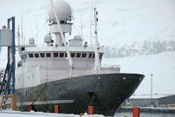 Árni Friðriksson, skip Hafrannsóknastofnunar, tók þátt í leitinni ásamt fjórum öðrum skipum.