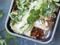 Ótrúlega gott og girnilegt enchiladas með tættum kjúkling.
