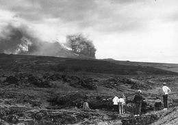 í Heklugosinu 1980 munaði litlu að flugvél lenti inni í gossstróknum sem reis hratt til ...