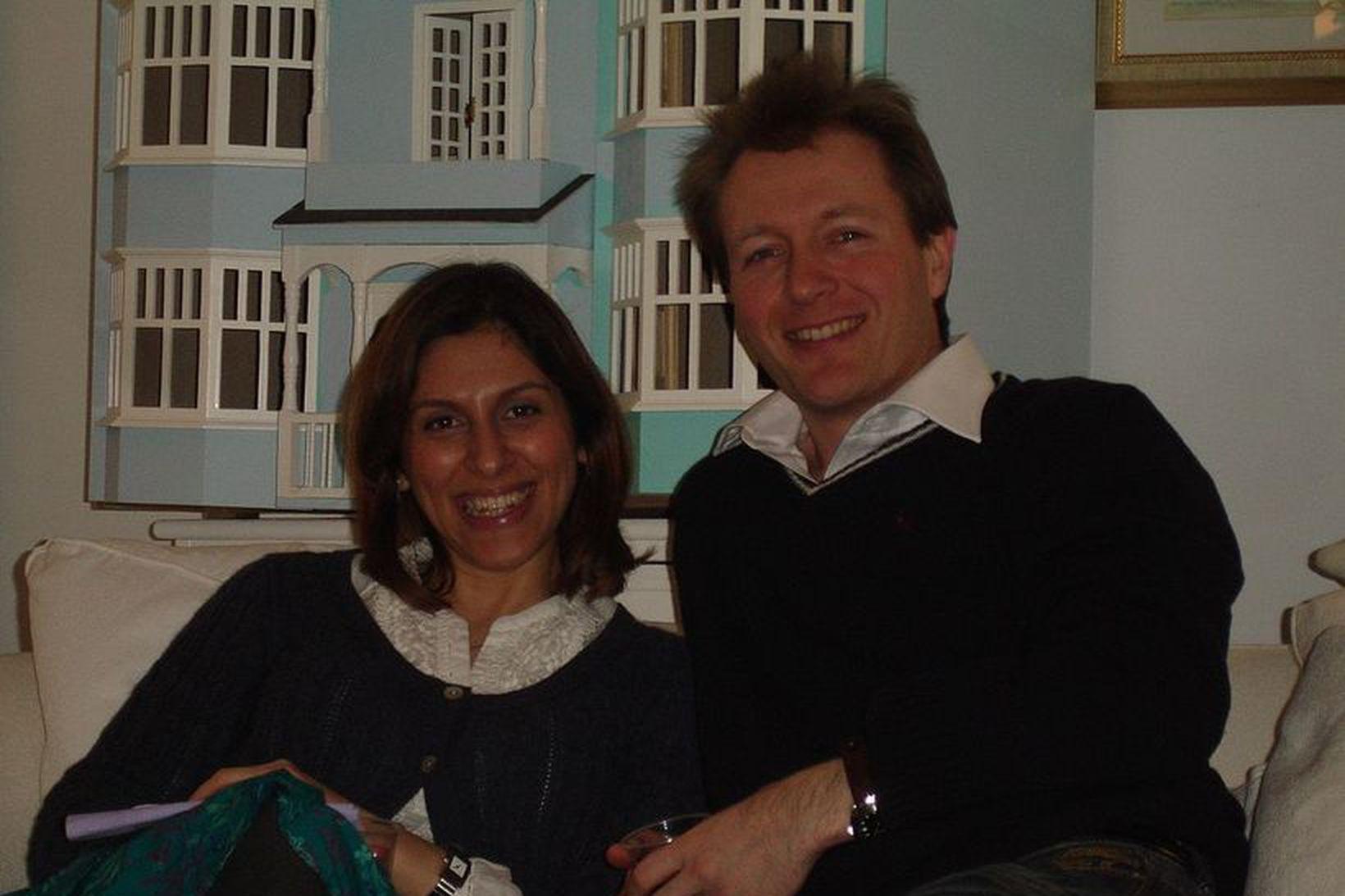 Nazanin Zaghari-Ratcliffe og Richard Ratcliffe. Myndin er tekin á gamlárskvöld …