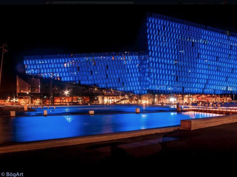 Harpa Concert Hall and Conference Centre is situated by the Reykjavik Harbour.