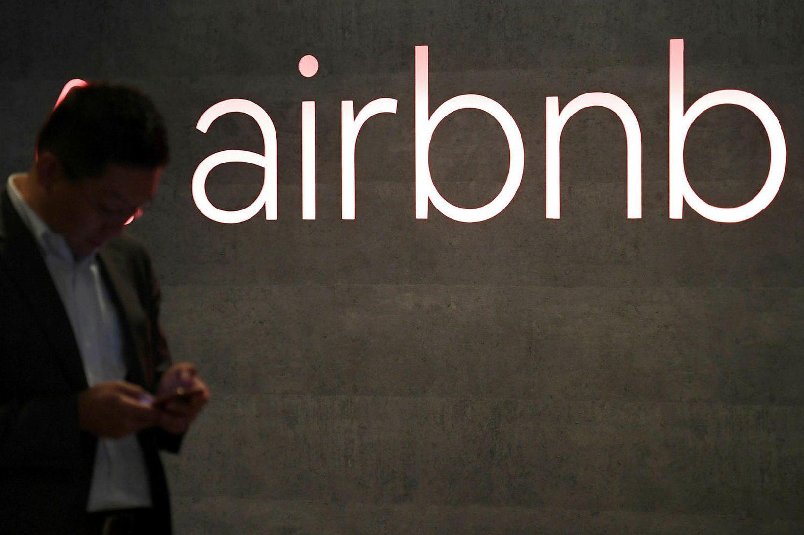 Frá höfuðstöðvum Airbnb í San Francisco.