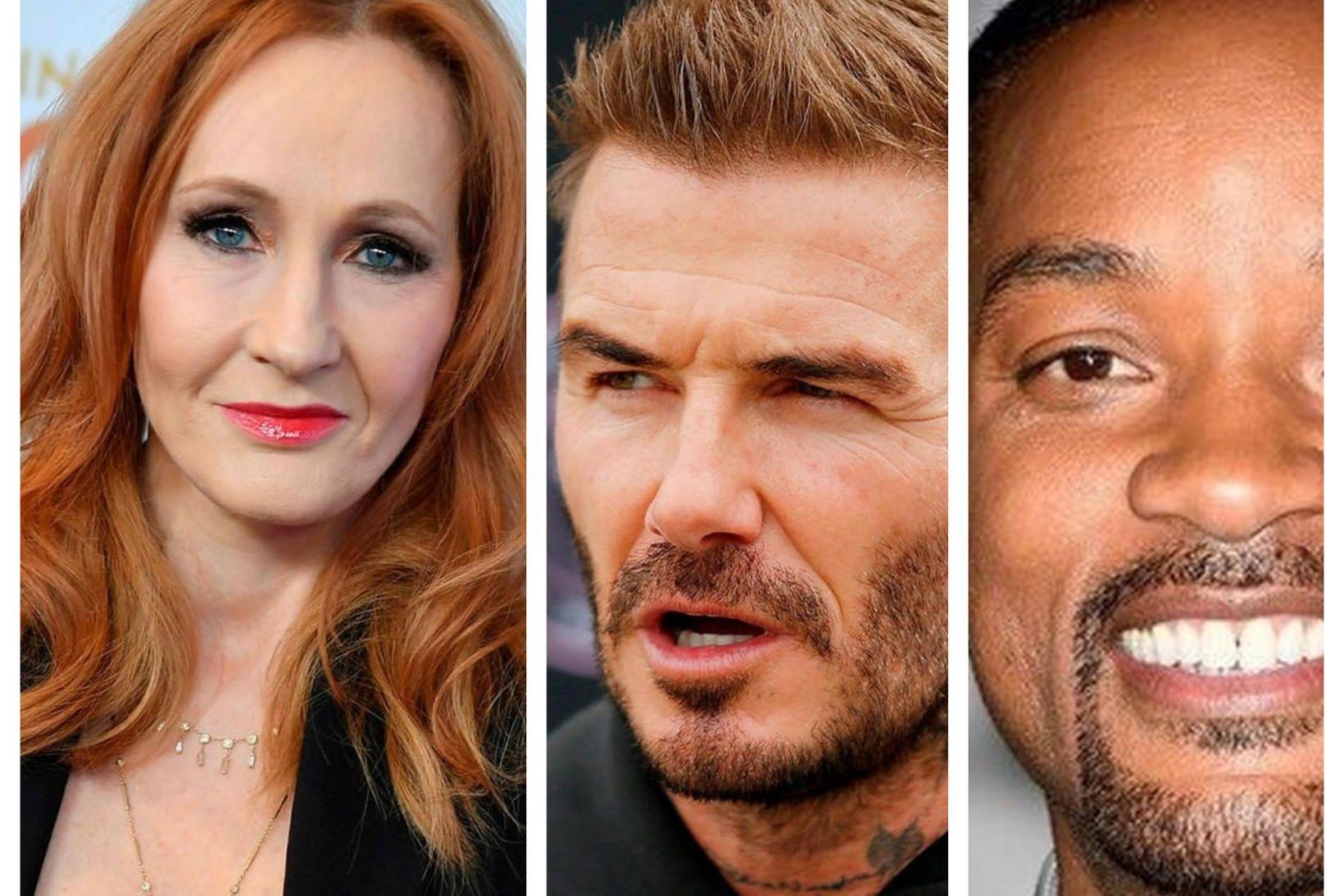 J.K. Rowling, David Beckham og WIll Smith voru á Íslandi …