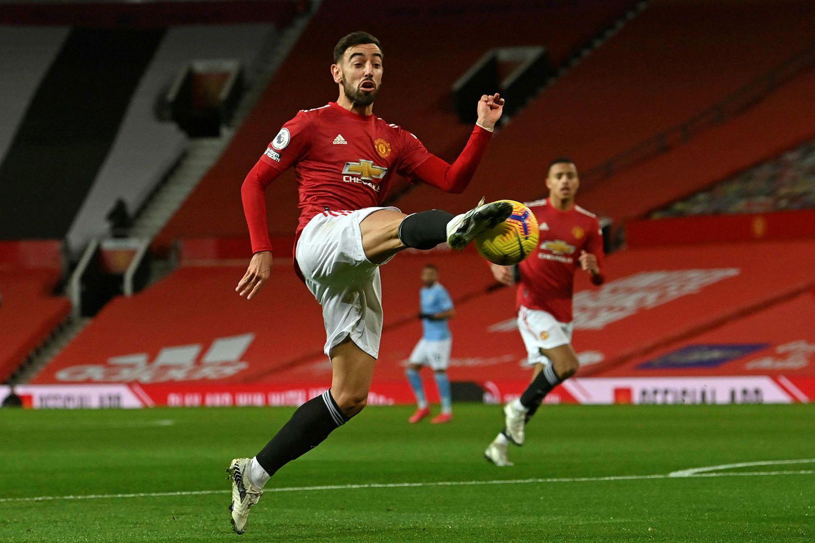 Bruno Fernandes og félagar í Manchester United leika í Sheffield …