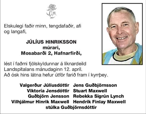 Júlíus Hinriksson
