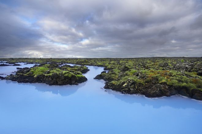 The gorgeous blue waters of Iceland's most visited tourist spot.